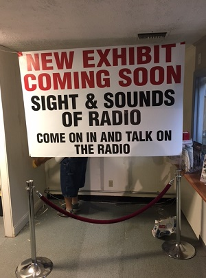 "Sign that reads ""New Exhibit Coming Soon"""
